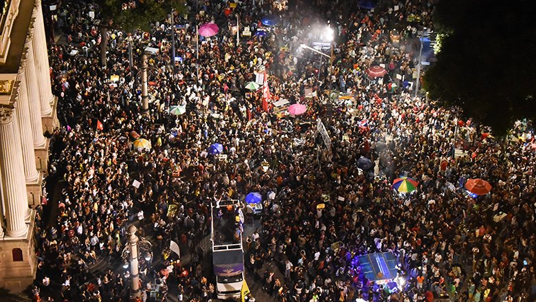 Image of the ABCDE 2020 Demonstrators in Brazil