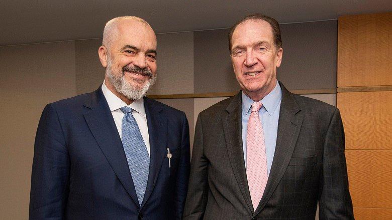 Minister of Albania Meeting with President David Malpass